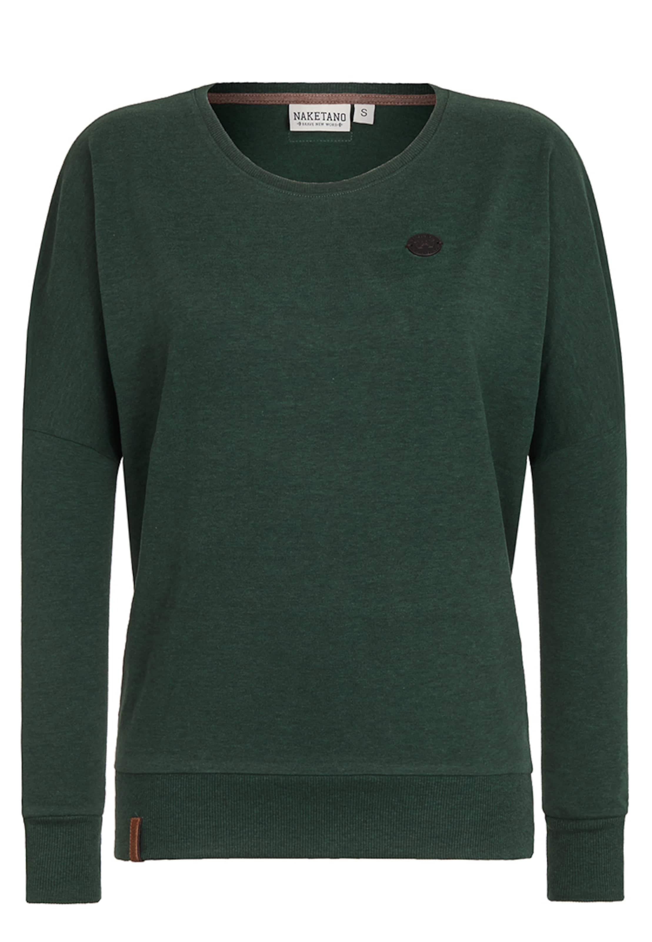 naketano Sweatshirt 'Green Schmusi' Günstig Kaufen Shop GcqUd2