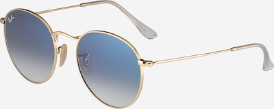 Ray-Ban Zonnebril '0RB3447N 001/3F' in de kleur Lichtblauw / Goud, Productweergave