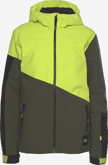 O'NEILL Skijacke 'Pb Magnatite' in khaki / neongrün / schwarz, Produktansicht