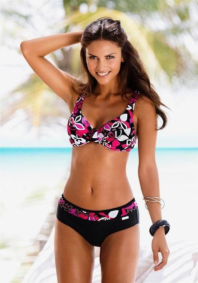 LASCANA Bügel-Bikini in pink / schwarz / weiß, Modelansicht