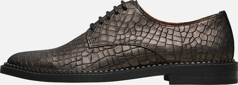 Selected Femme Lace With Crocodile Embossing