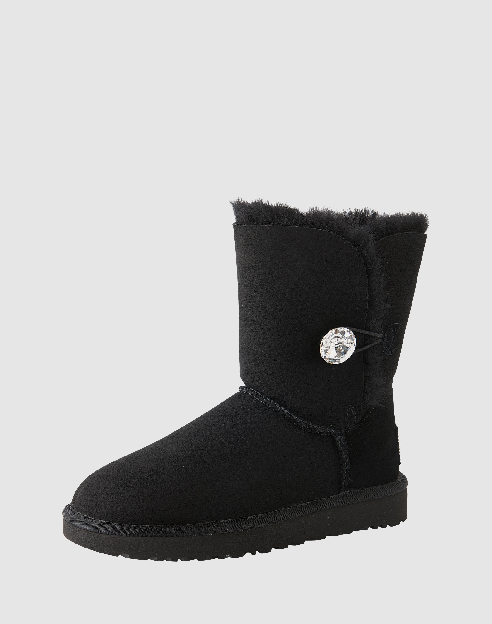 ugg boots mit funkelndem swarovski knopf 39 bailey button bling 39 in schwarz about you. Black Bedroom Furniture Sets. Home Design Ideas