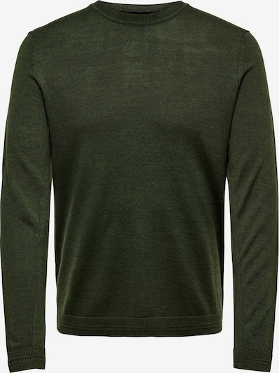 Only & Sons Strickpullover in oliv, Produktansicht