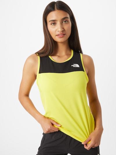 THE NORTH FACE Sportovní top - žlutá / černá: Pohled zepředu
