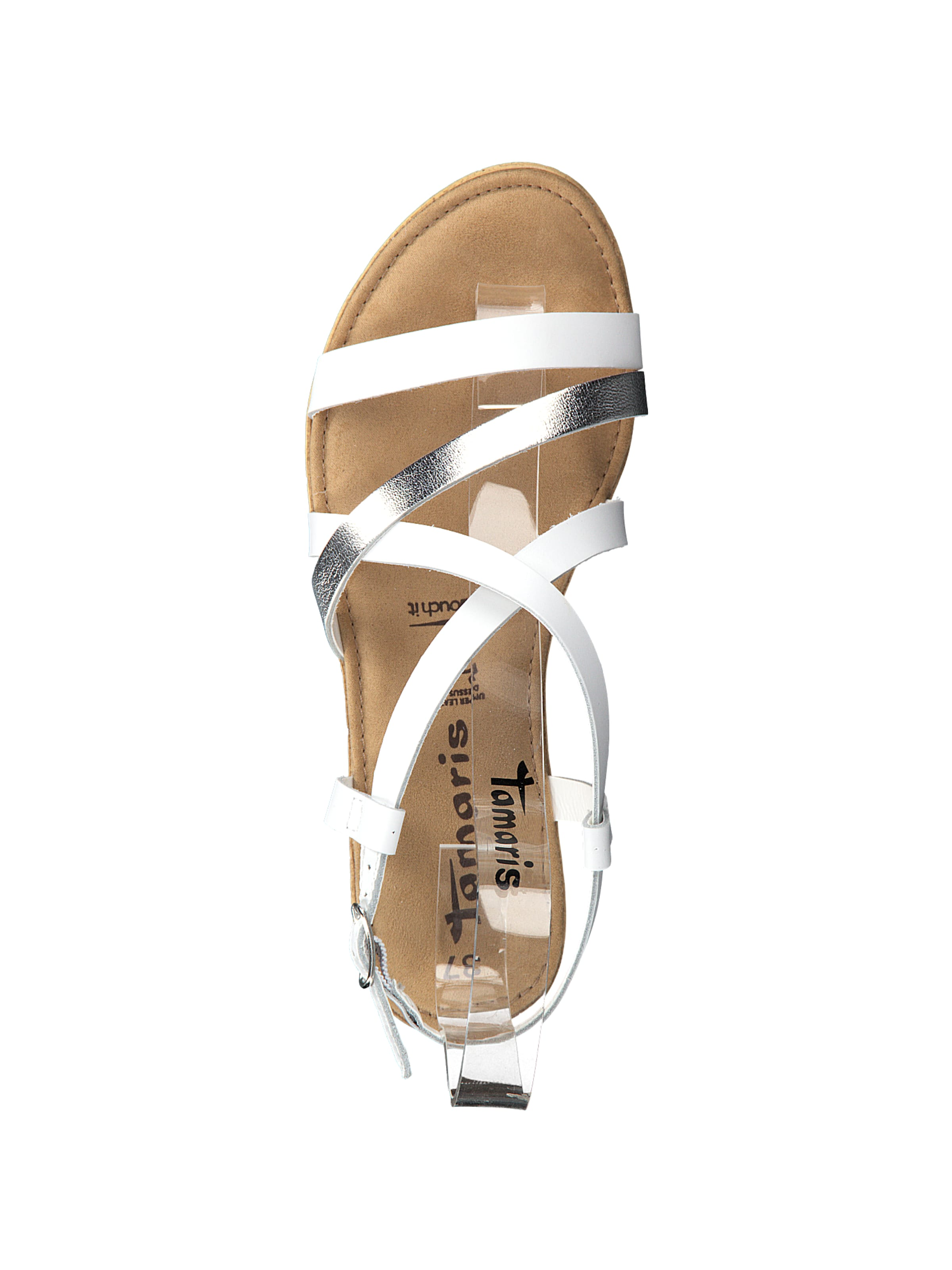 Tamaris Sandale 'keilsandalette' SilberWeiß Tamaris 'keilsandalette' Sandale In SilberWeiß In kXOPiuwZTl