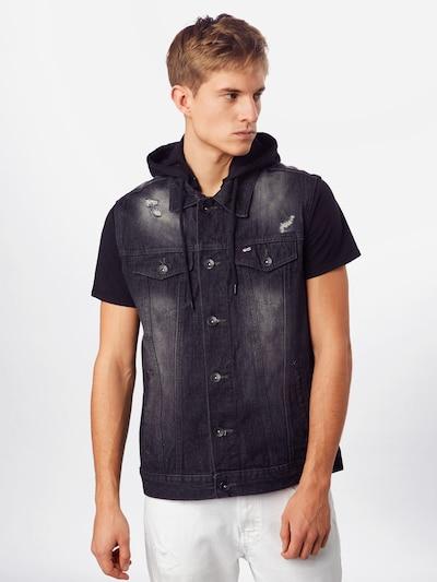 SOUTHPOLE Veste pieejami melns džinsa: Priekšējais skats