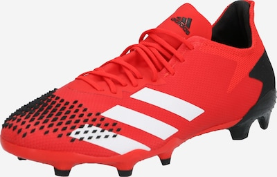 ADIDAS PERFORMANCE Futbola apavi 'PREDATOR 20.2 FG' pieejami sarkans / melns / balts, Preces skats