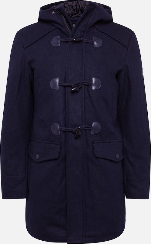 INDICODE JEANS Dufflecoat 'Liam Solid' in navy, Produktansicht
