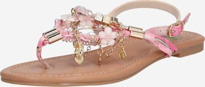 BUFFALO Zehentrenner 'Jilly' in gold / rosa, Produktansicht