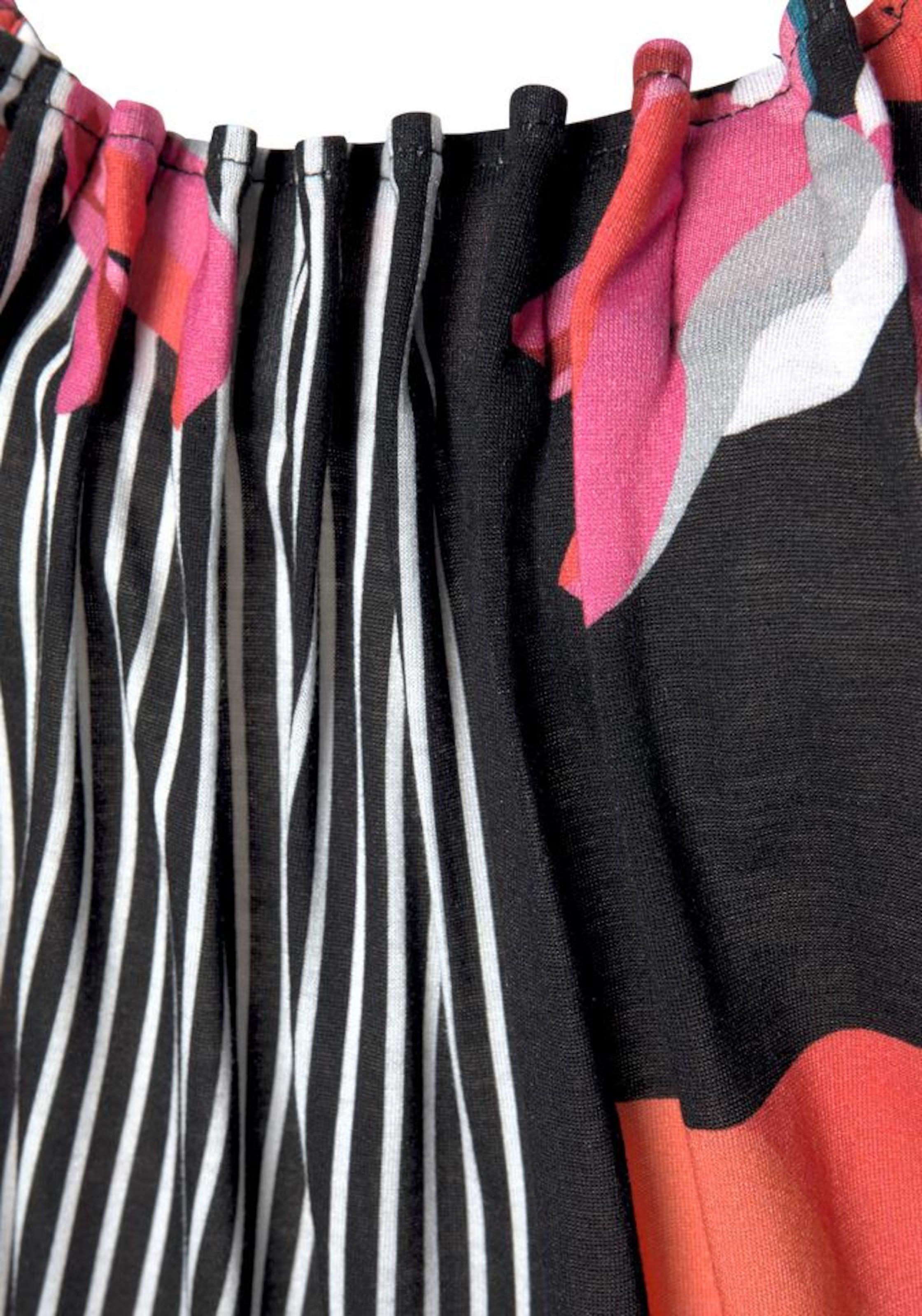 LASCANA Strandklänning i blandade färger / svart / vit