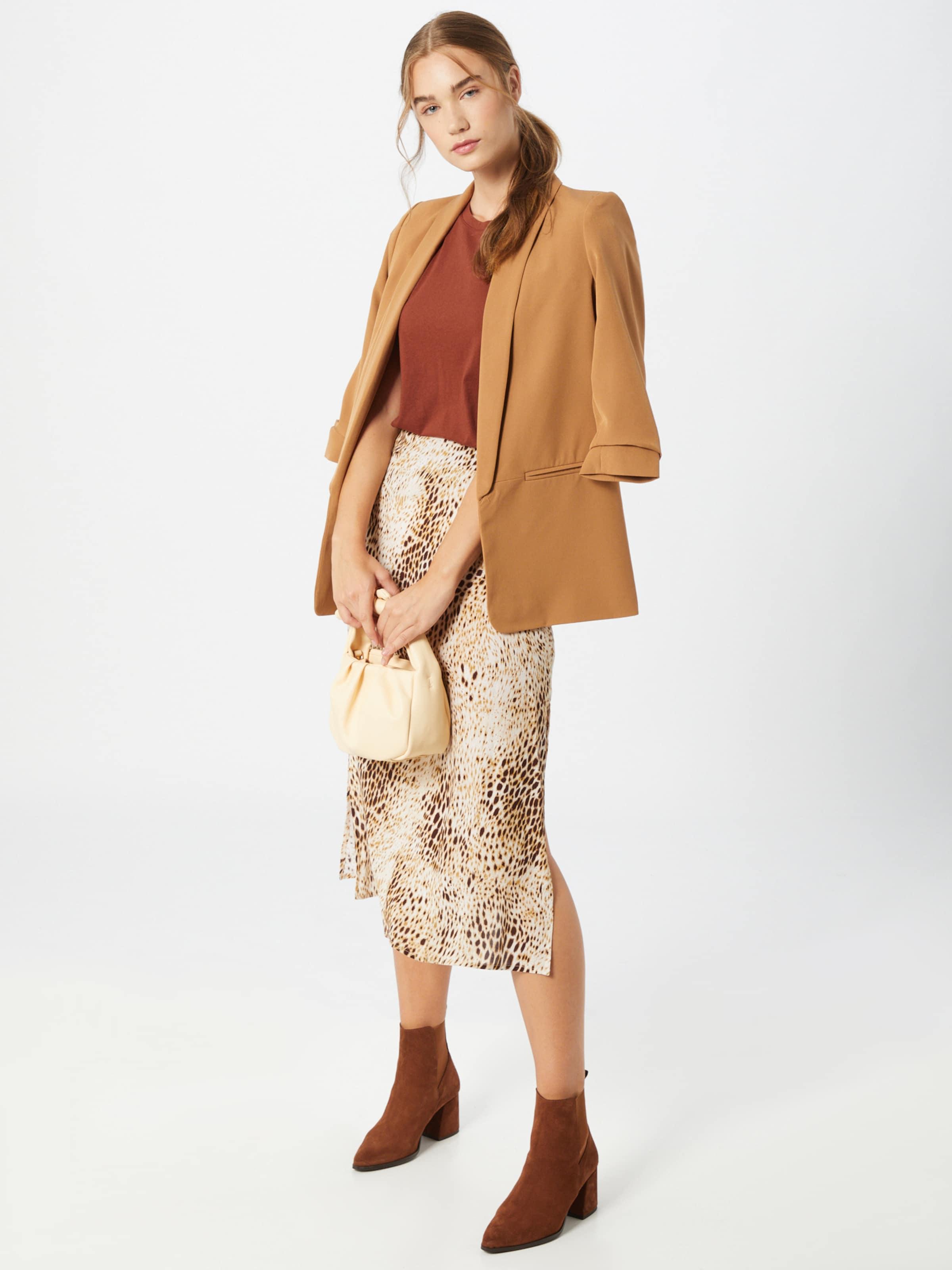 JACQUELINE de YONG Shirt 'Louisa' in kastanienbraun