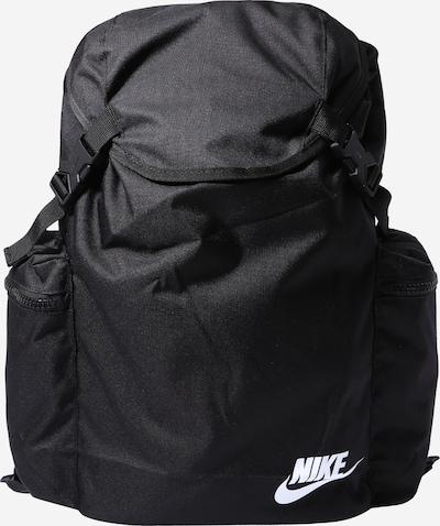 Nike Sportswear Rugzak 'Heritage' in de kleur Zwart / Wit, Productweergave