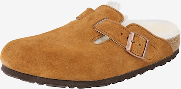 BIRKENSTOCK Slippers 'Boston S' in Brown