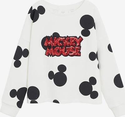 MANGO KIDS Sweatshirt 'Mickey 6' in rot / schwarz / weiß, Produktansicht