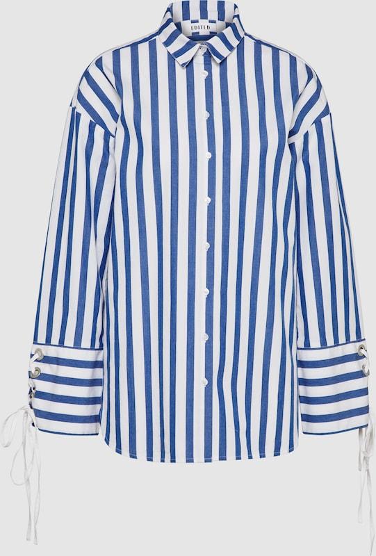 EDITED Shirt 'Tess' in blau   weiß  Neu in diesem Quartal