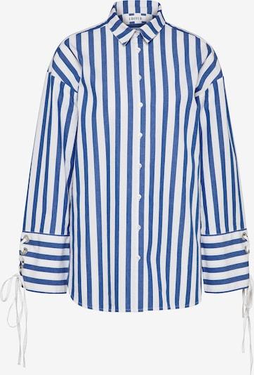 EDITED Blouse 'Tess' in de kleur Blauw / Wit, Productweergave