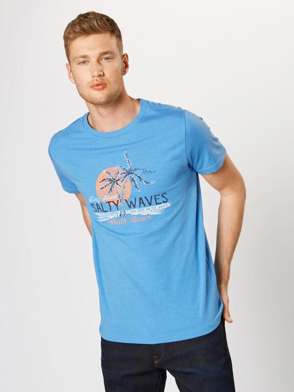 T BleuOrange Waves Izod shirt Blanc 'salty Graphic Tee' En eCdoWBQrx