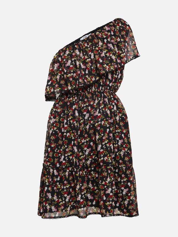 De Mélange 'one Robe Na Flounce kd En Couleurs Dress' Noir Shoulder 8wBU6q