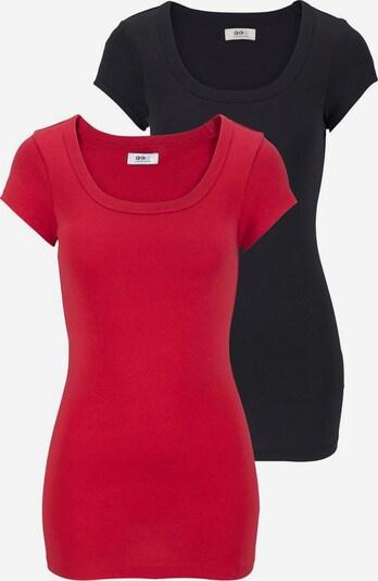 FLASHLIGHTS T-Shirt 2er-Pack in rot / schwarz, Produktansicht