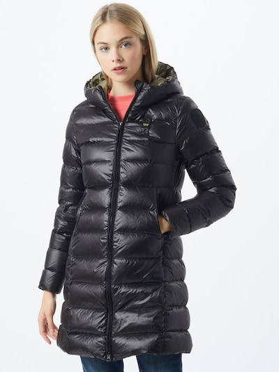Blauer.USA Wintermantel in schwarz, Modelansicht