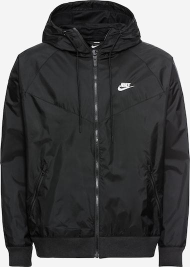 Nike Sportswear Tussenjas 'M NSW HE WR JKT HD' in de kleur Zwart: Vooraanzicht