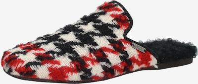 Living Kitzbühel Huisschoenen in de kleur Rood / Zwart / Wit, Productweergave