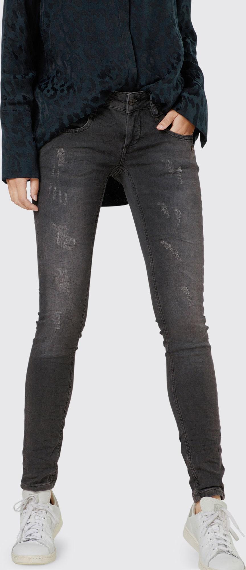 gang 39 nena 39 skinny jeans in grau about you. Black Bedroom Furniture Sets. Home Design Ideas