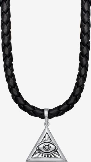 KUZZOI Ketting 'Evil Eye' in de kleur Zwart / Zilver, Productweergave