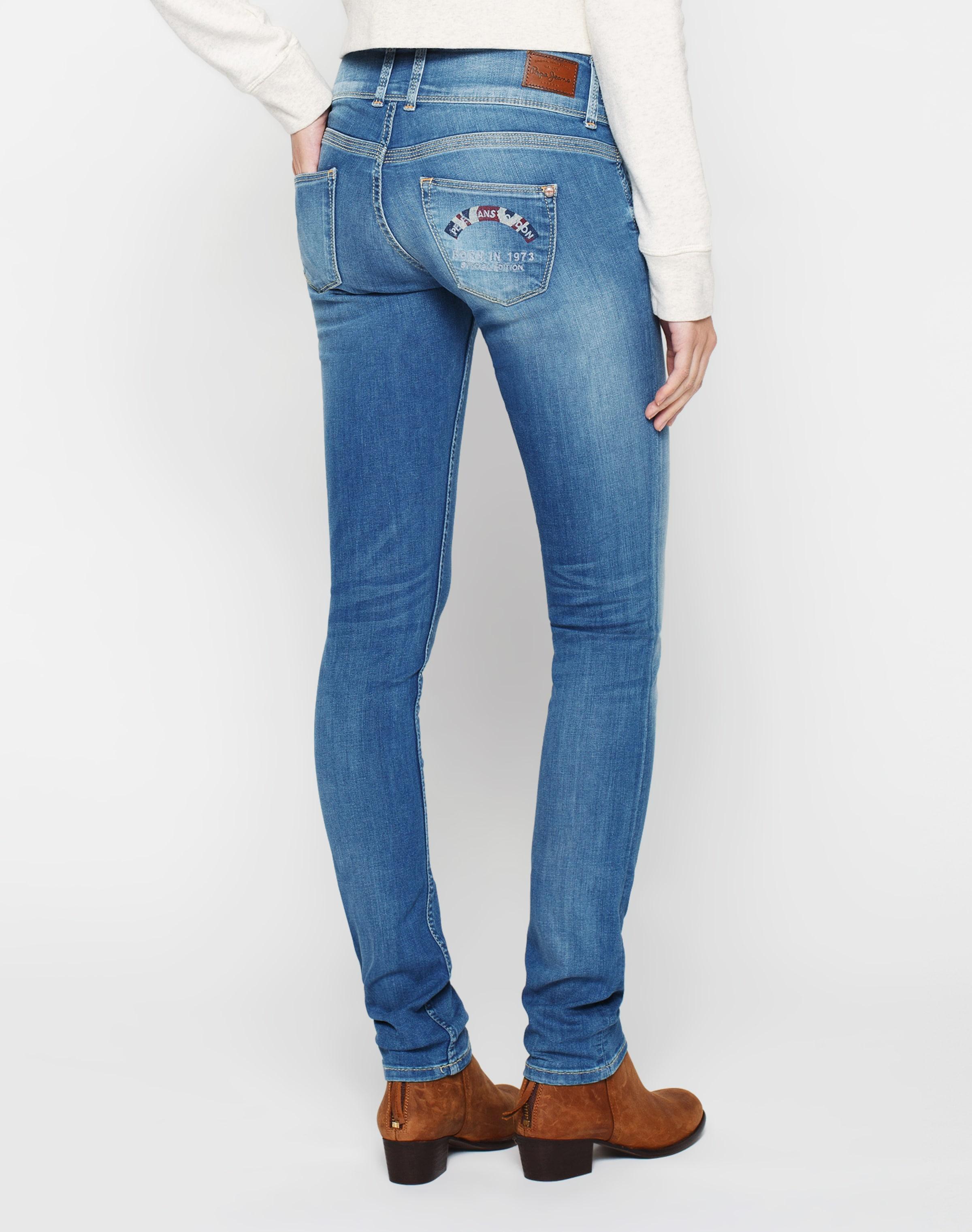 'vera' Jean Bleu En Pepe Jeans PTZOwkXiu