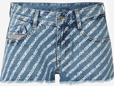 DIESEL Shorts 'De-Rifty' in blue denim / weiß, Produktansicht