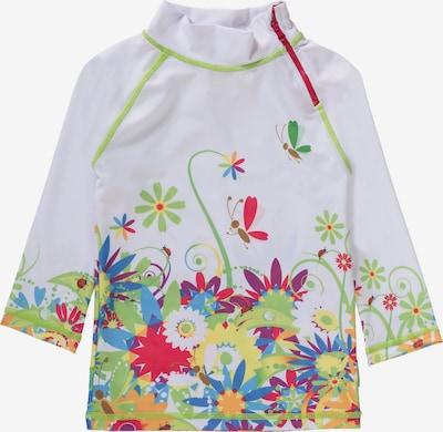 SWIMPY Schwimmshirt in mischfarben / weiß, Produktansicht