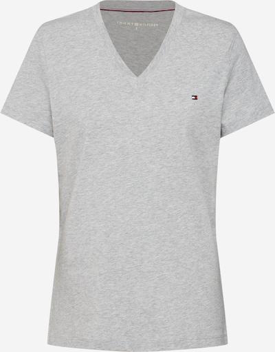 TOMMY HILFIGER Shirt 'HERITAGE V-NECK TEE' in hellgrau / graumeliert, Produktansicht