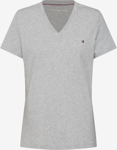 TOMMY HILFIGER Shirt 'HERITAGE V-NECK TEE' in de kleur Lichtgrijs / Grijs gemêleerd, Productweergave