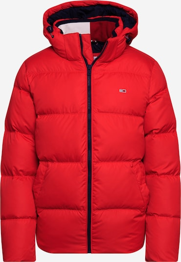 Tommy Jeans Winterjas 'ESSENTIAL' in de kleur Navy / Rood / Wit, Productweergave