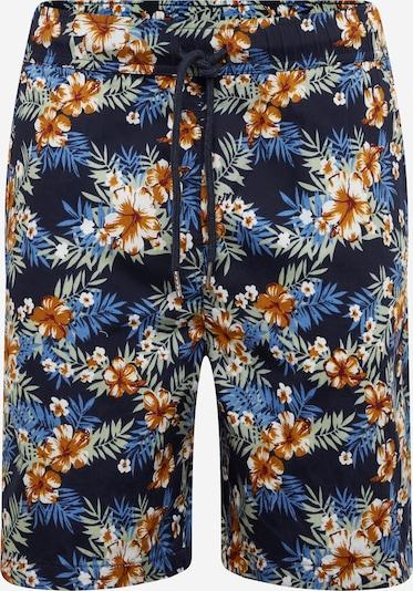 Urban Classics Shorts in blau / navy / ocker / pastellgrün / weiß, Produktansicht