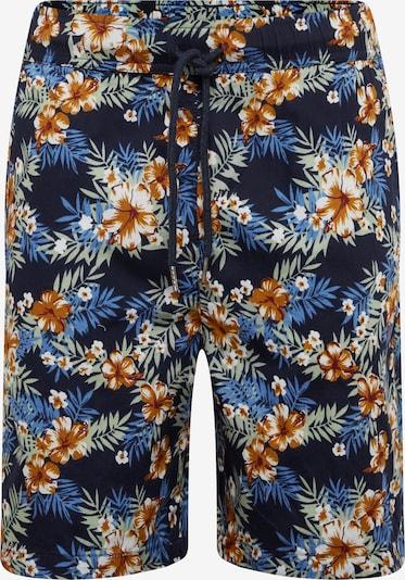 Pantaloni 'Pattern Resort' Urban Classics pe albastru / galben, Vizualizare produs