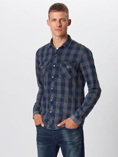 Mavi Hemd in dunkelblau / grau: Frontalansicht