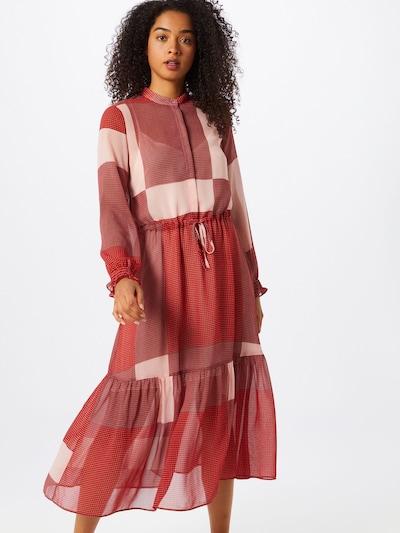 mbym Kleid 'Diaz' in rosa / rot / schwarz / weiß: Frontalansicht