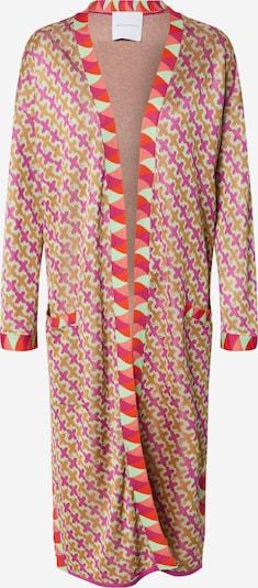 DELICATELOVE Strickjacke 'Ida Big X' in pink, Produktansicht