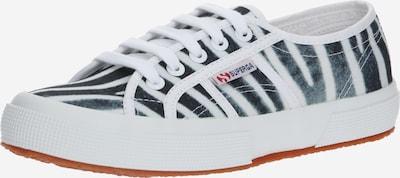SUPERGA Baskets basses en noir / blanc, Vue avec produit