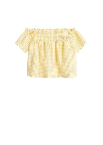 MANGO KIDS Shirt in gelb, Produktansicht