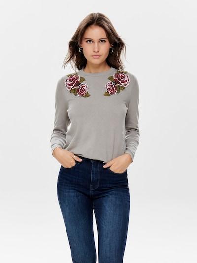ONLY Pullover in hellgrau / grasgrün, Modelansicht