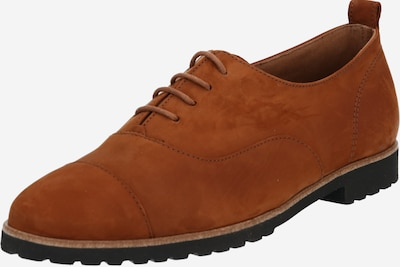Paul Green Čevlji na vezalke | konjak / črna barva, Prikaz izdelka