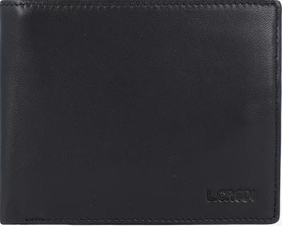 L.CREDI Portemonnee 'Hugo' in de kleur Zwart: Vooraanzicht