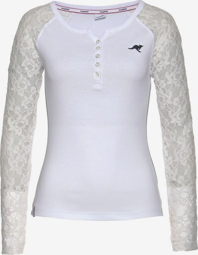 KangaROOS Langarmshirt in dunkelgrau / weiß, Produktansicht