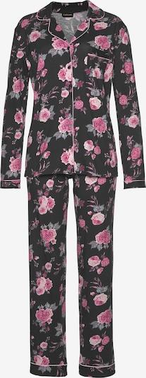 LASCANA Pyjama in altrosa / schwarz, Produktansicht