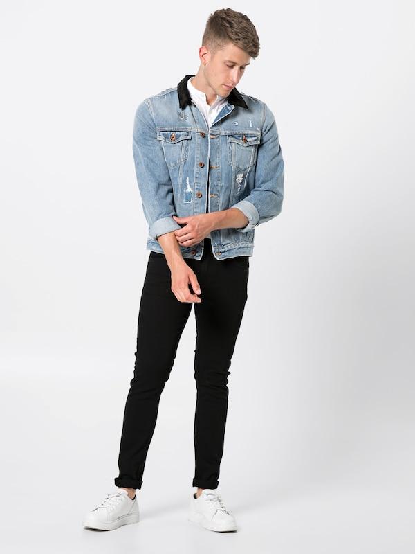 Veste Blauw Scotchamp; Mi Denim Soda Bleu Trucker' En saison 'ams mNyOP8n0vw