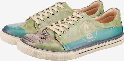 DOGO Sneaker 'Here We Go' in blau / türkis / apfel / weiß, Produktansicht