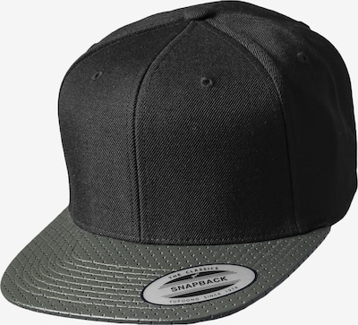 Flexfit Snapback 'Perforated Visor' in khaki / schwarz, Produktansicht