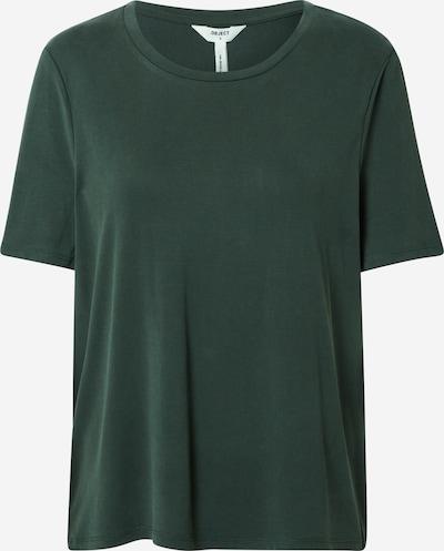 OBJECT T-Shirt in dunkelgrün, Produktansicht